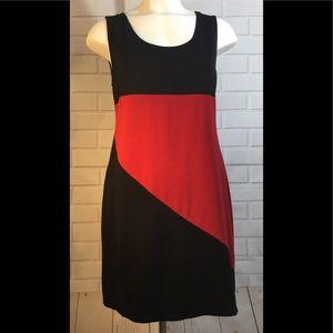 International Concepts Black/red flare sz Lg dress
